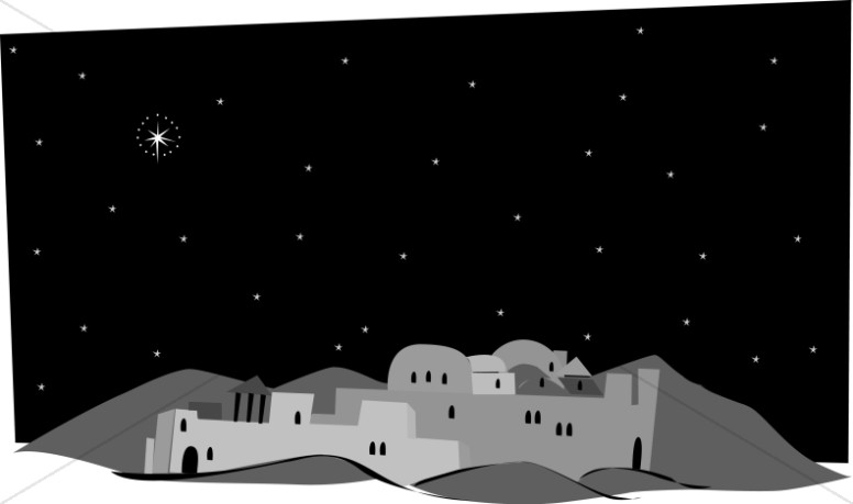 grayscale town of bethlehem nativity clipart rh sharefaith com clipart bethlehem stable bethlehem clipart free
