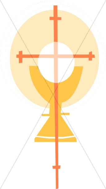 Golden Cross With Chalice