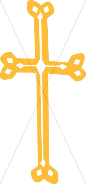 Whimsical Gold Cross