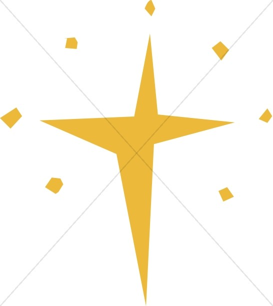 cut out natal star epiphany clipart