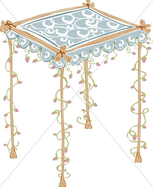 Jewish Wedding Altar: Christian Wedding Clipart
