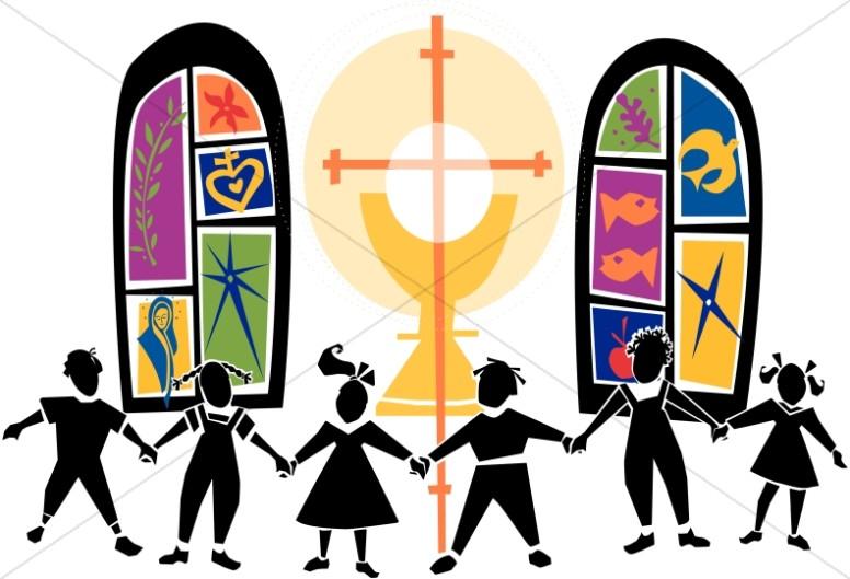 Chain of Kids at Church