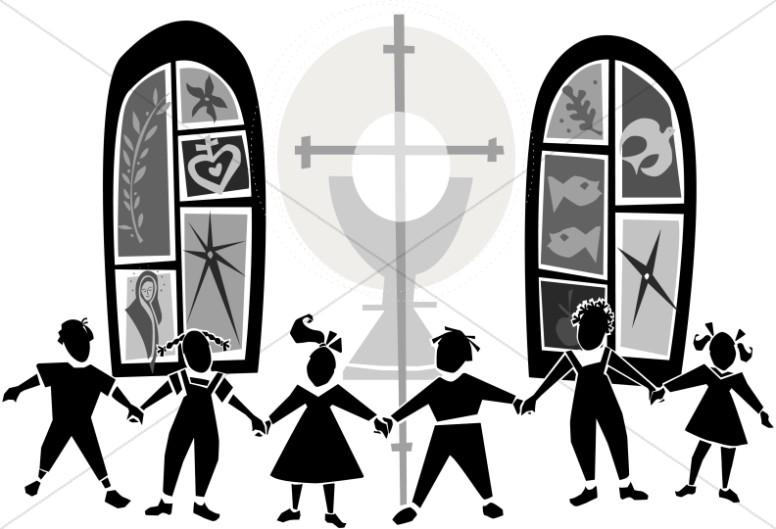 Black and White Kids at Church