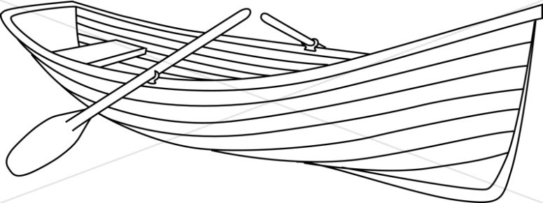 camping canoe and oars