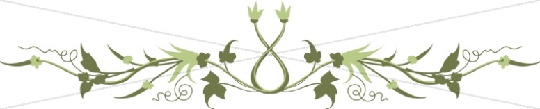 Symmetrical Floral Ornament Page Divider