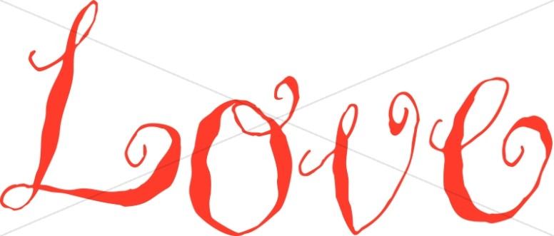 Red Rustic Love Script