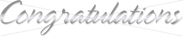 Formal Silver Congratulations Script