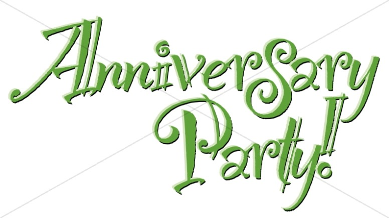 Fun Green Anniversary Party! Wordart