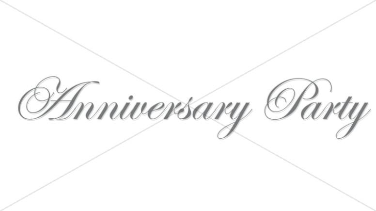 Elegeant Silver Anniversary Wordart
