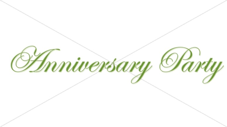 Elegant Green Anniversary Party Wordart
