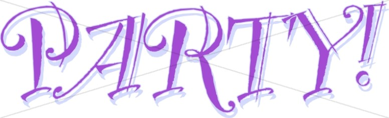 Purple Party Sign