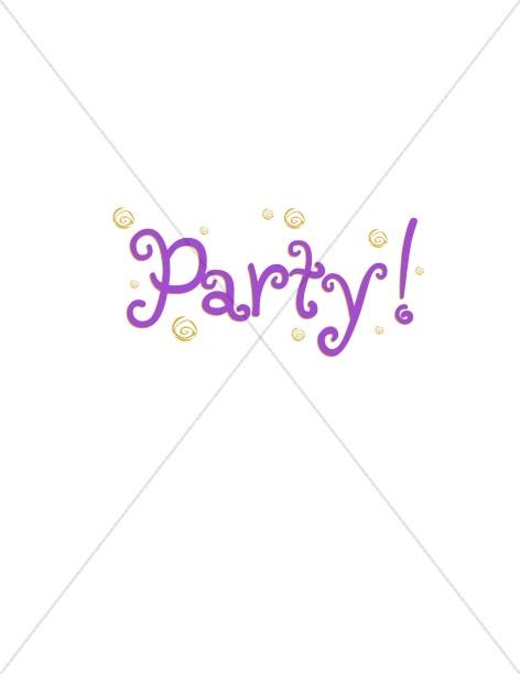 Confetti Party Letters