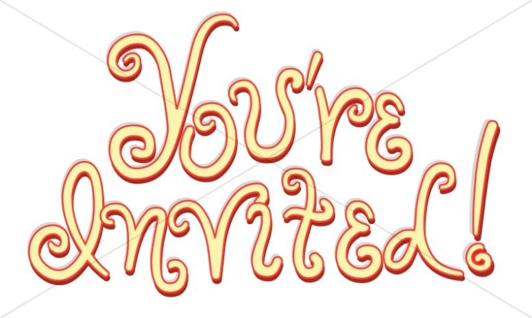 Yellow Script Invitation