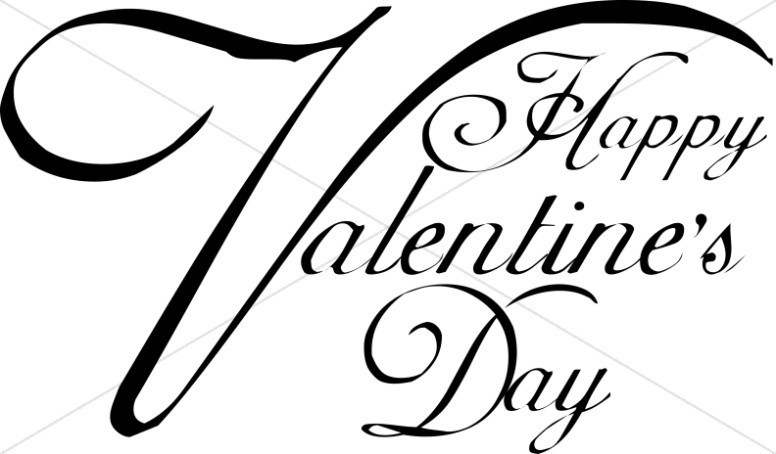 Happy Valentine's Day Script Typography