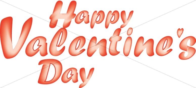 Gradient Happy Valentine's Day