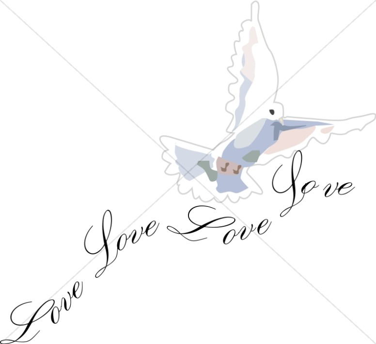 Love Dove Clipart