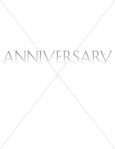 Elegant Faded Word Anniversary