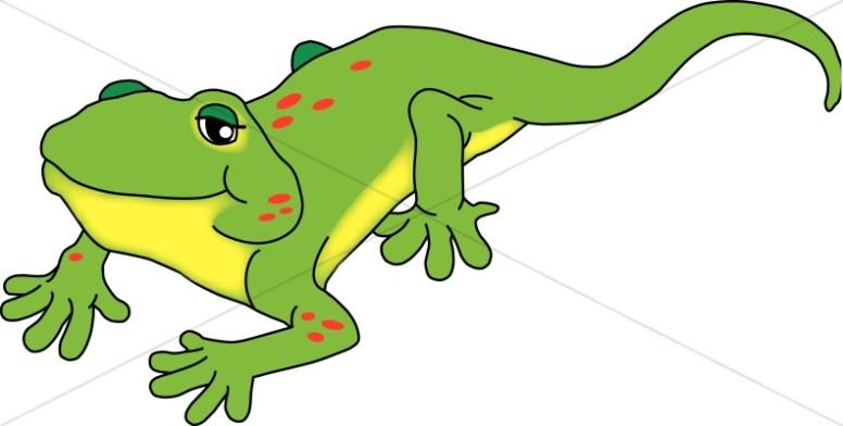 Smiling Green Lizard