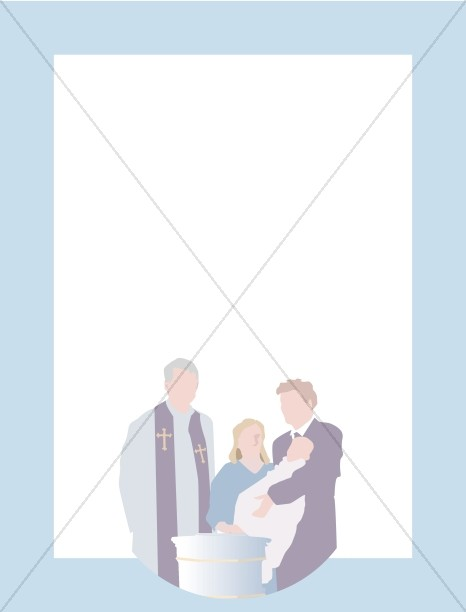 Christian Boy Baptism Frame