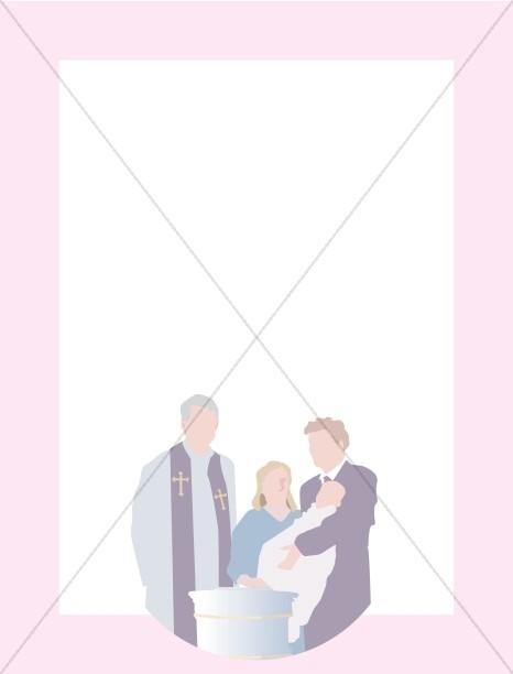 Christian Girl Baptism Frame