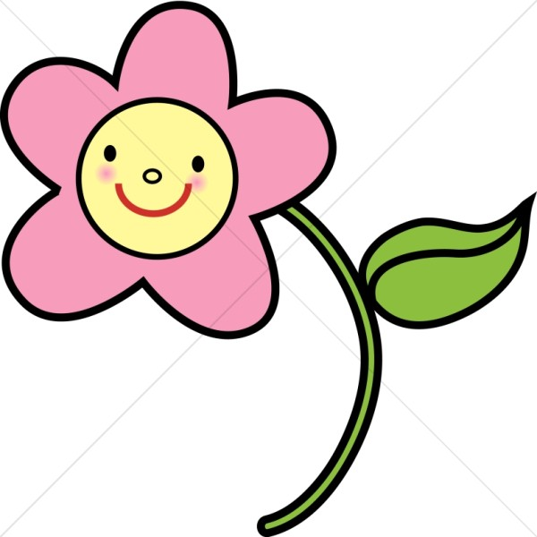Pink Happy Flower