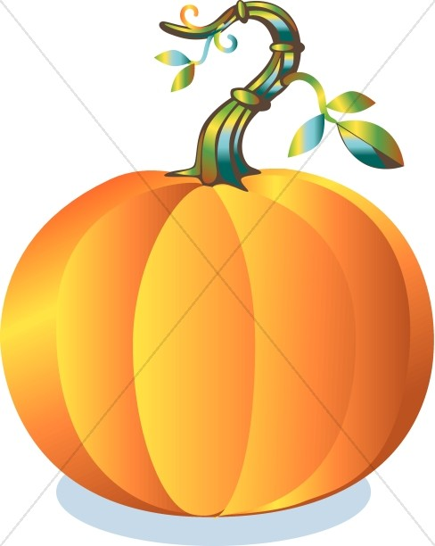 Colorful Round Pumpkin