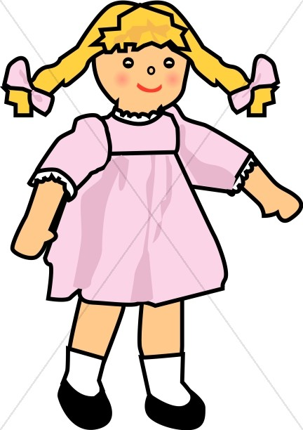 baby girl doll religious baby clipart rh sharefaith com baby doll dress clipart