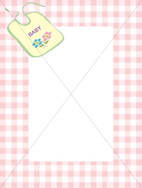 Gingham Outline and Baby Bib