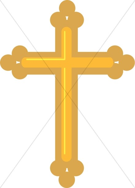 Gold Budded Cross