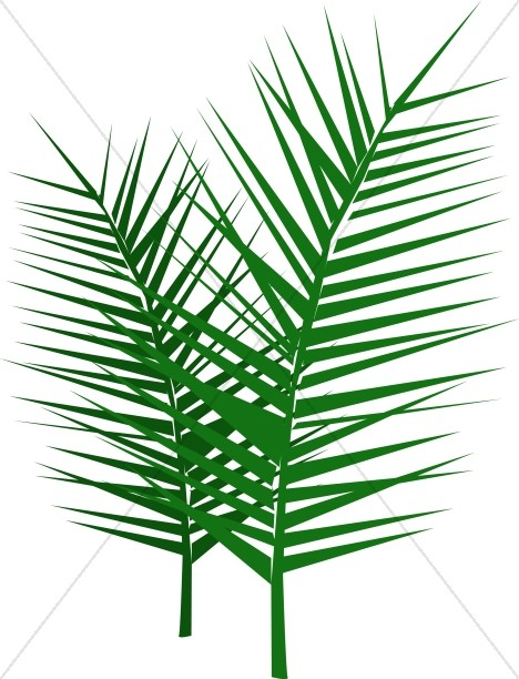 leafy palm branches palm sunday clipart rh sharefaith com Palm Sunday Cross Clip Art Church Bulletin Palm Sunday Greeting