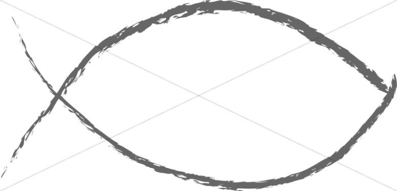 Quick Charcoal Fish Symbol