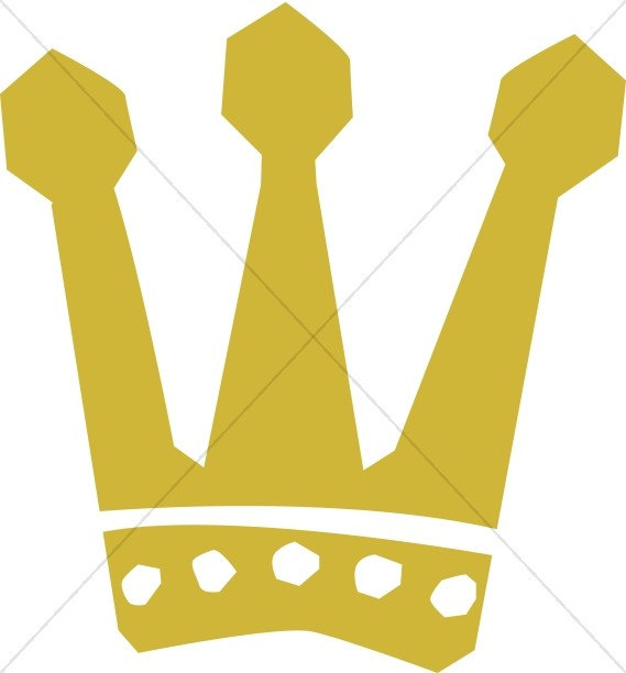 Gold Three Pronged Crown