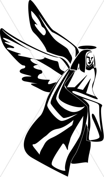 Black and White Angel Picture | Angel Clipart