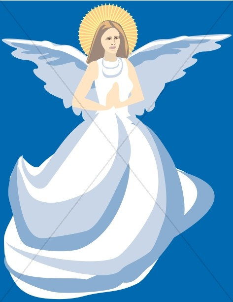 Church Clipart Praying Angel