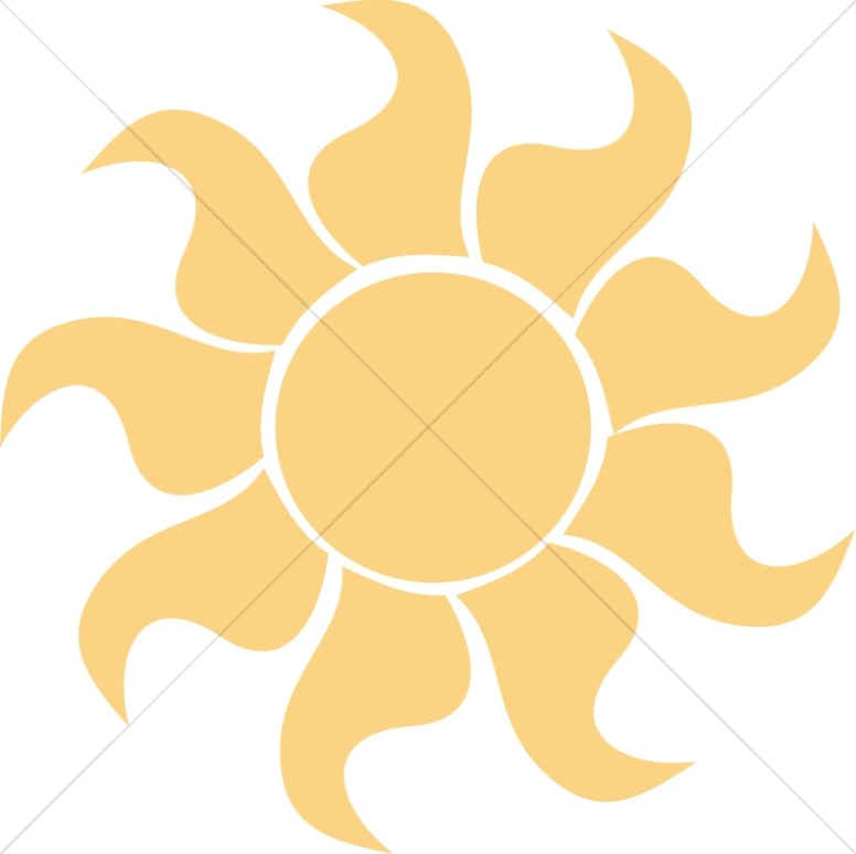 Orange Stylized Sun