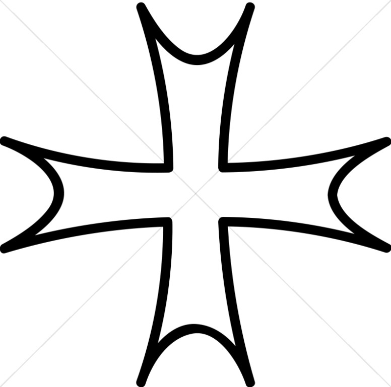 Cross Formee Outlined