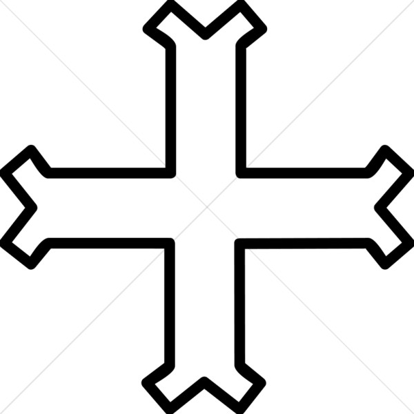 Outlined Cross Fourchee II