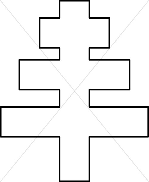 Papal Cross Outline | Papal Clipart