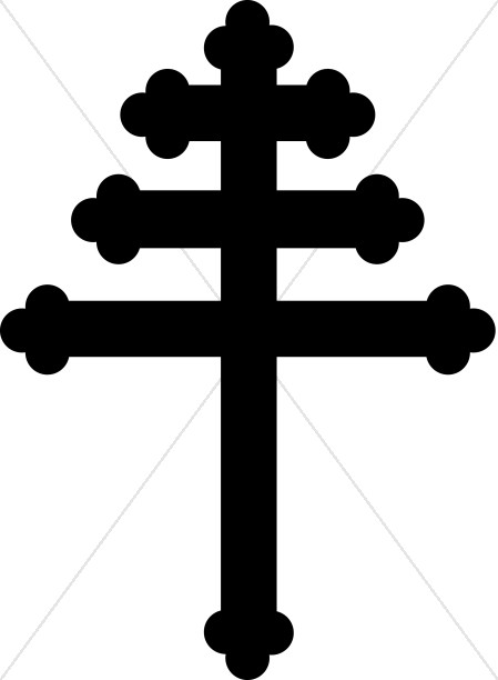 Ornate Papal Cross SIlhouette