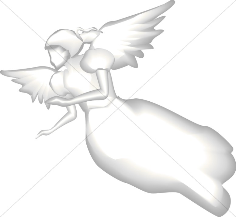 Angel in Flight Clipart
