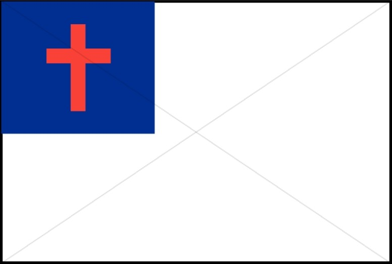 Red White and Blue Cross Flag