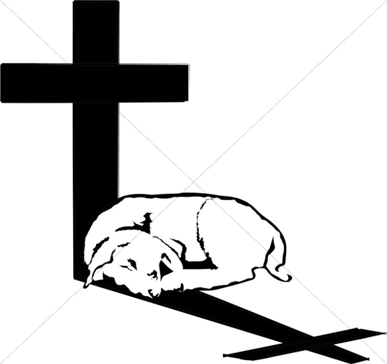 Lamb In Cross Shadow Cross Clipart