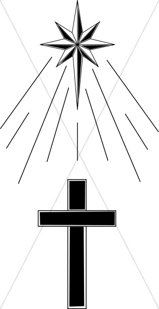 cross under shining star cross clipart rh sharefaith com  animated shining star clipart
