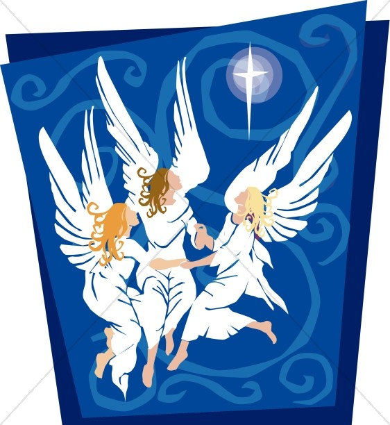 Christmas Clipart Angels Announcement