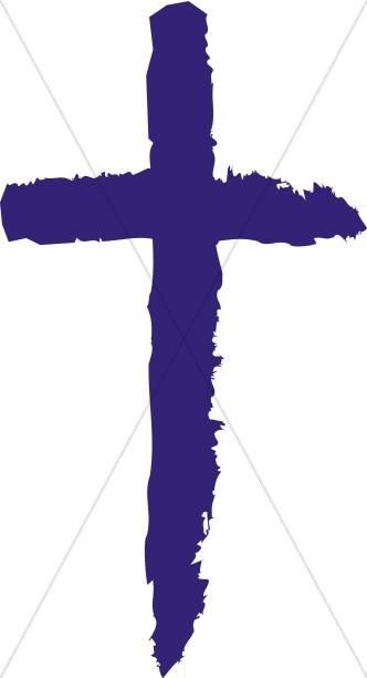 Blue Painted Cross