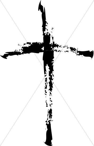 Distorted Black Cross | Cross Clipart