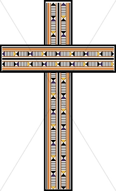 Contemporary Wood Inlay Cross