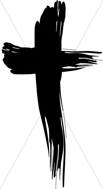 Bold Brushstroke Cross
