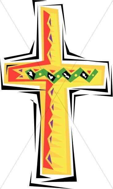 Festive Cross Clipart