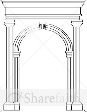 Roman Architecture Arches stone arch in roman architecture | church clipart